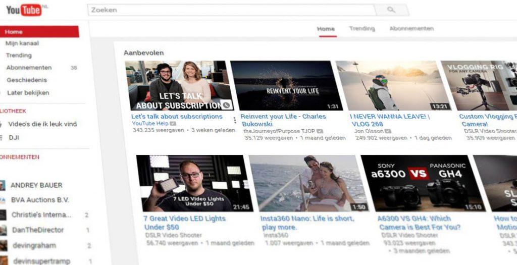 youtube aanbevolen video